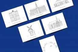 haarlemse gebouwen, teylers museum, sint bavo, koepel gevangenis, de adriaan, stadhuis haarlem, overview haarlem