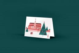 kerstkaart haarlem Sint Bavo